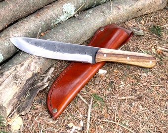 "Hand Forged ""Cortes 2"" Big Beefy Camp/Hunting/Work Knife"