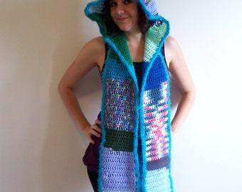 Head in the Clouds Full Festyhood // Festival Hat // Festival Hood // Rave Hood // CrayCray Crochet