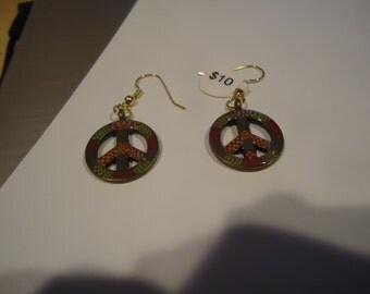 Gold Peace Earrings