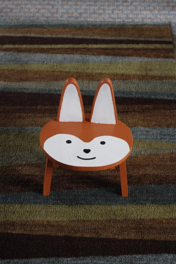 Bathroom step stool kid 39 s animal stool chair children 39 s chair child 39 s step stool fox Bathroom step stool for kids