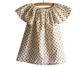 Girl Peasant Dress Pattern Tutorial/ Toddler dress pattern/ Girls Dress Pattern. Childrens Sewing Pattern. Size 6-12 m, 12-18 m, 2/3T,4/5