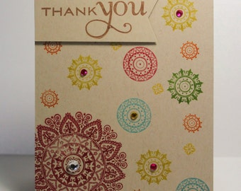 Mendhi Thank You Card (Top Folding)