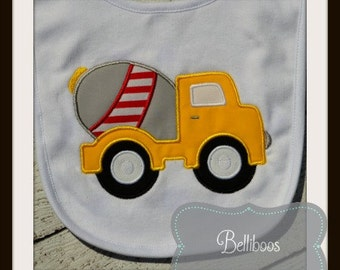 Truck Applique Design - Truck Embroidery Design - Cement Truck Applique Design - Cement Truck Embroidery Design - Boy Applique Design