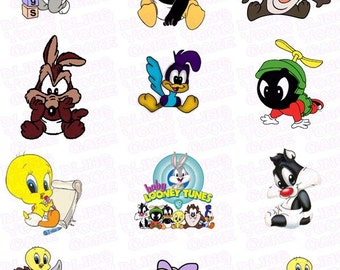 Warner Brothers Baby Looney Tunes Inspired Edible Icing Cupcake Decor Toppers