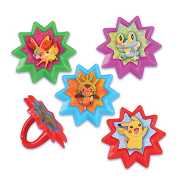 Pokemon Cupcake Rings 24 Pokemon Cupcake Rings Cake Decor Toppers Zoom