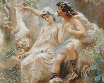 Allegorical Scene PDF Cross Stitch Pattern