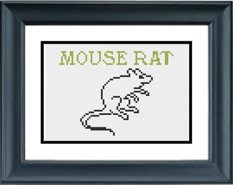 Mouse Rat - Parks and Recreation - PDF Cross-Stitch Pattern