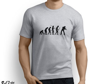 Evolution Violin T-shirt tee music fiddle orchestra symphony funny