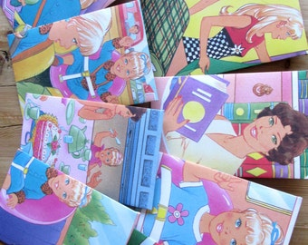 Gift envelopes made from Barbie book, set of 9, 7.5 x 11 cm