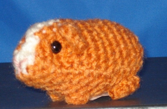 Amigurumi Baby Guinea Pig : Amigurumi Baby Guinea Pig 165C by AmysKeepsakeCrafts on Etsy