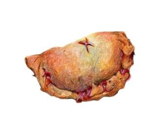 Hand Pie Art // Food Illustration // Archival Art Print