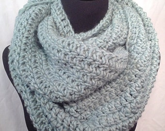 Pistachio Infinity Crochet Scarf