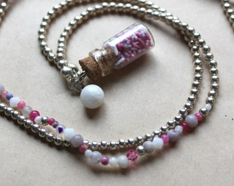 Sprinkles - Bottled Long Jane Silver Necklace
