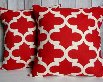 Pillow Covers. Red Pillows. Modern Pillows. Accent Pillows. Home and Living. Home Decor
