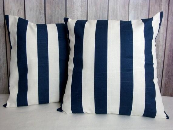 Navy Pillow Cover. 18x18 Pillow. Beach Theme Pillow Covers. Pillow Covers. Pillows. Ocean Decor. Nautical Decor