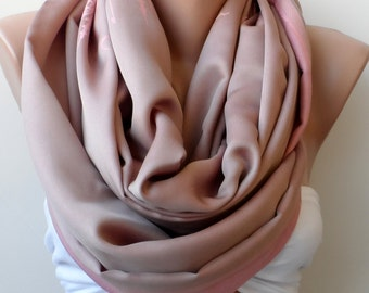 Loop scarf, Pink circle scarf, Istanbul Themed scarf , Lavender pink scarf, old pink scarf, Pashmina, Elegant scarf, fashion scarf