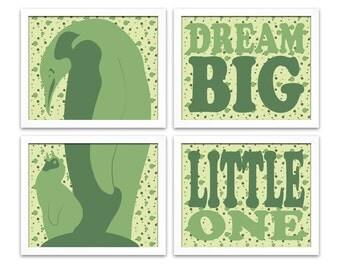 Dream Big Little One penguin art! Baby shower gift for new mom, zoo animal nursery art, polka dots, gender neutral childrens decor wall art