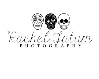 "Custom Premade Photography Logo and Watermark ""Dia De Los Muertos"" - Limited Quantity and Special Edition Logo"