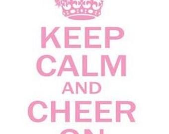 Keep Calm/ Cheer Shirt/ Cheer T Shirt/ Cheerleader Shirt/ Cheerleader T Shirt/ Keep Calm And Cheer On Cheerleader Short Sleeve T-Shirt