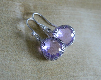 Lavender Lace Earrings