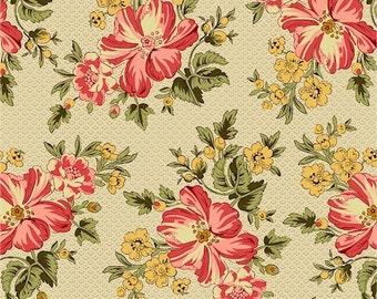 Romantic Renaissance - Pink Floral - 1/2yd