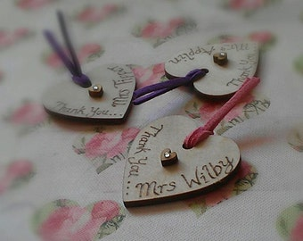 Personalised Teachers Gift Heart Magnets