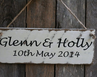 Rustic Wooden Wedding Sign - Made to Order