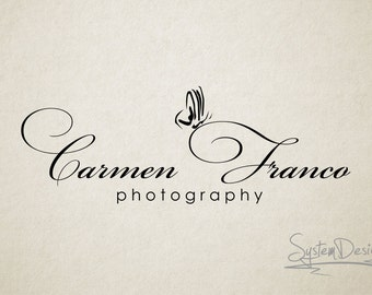 Photography logo - Logo design - Watermark - Butterfly logo - font logo