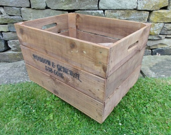 Large Timber Crate with Solid Sides