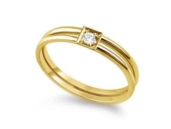 Items similar to 14k thin gold wedding band Engagement ring wedding ring