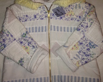 K3    handmade girls size 4-5  quilted jacket