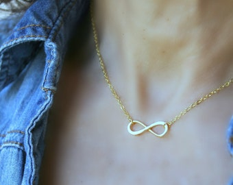 14k Gold Filled Infinity CHOKER Infinity Necklace Infinity Jewelry Friendship Jewelry Bridesmaid Gifts Minimalist Jewelry Infinity Love Gift