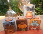 PATTERN, Tea Light Holders, Owl, Pumpkin, Sheep, crow, candy corn, OFG, FAAP, sunflower