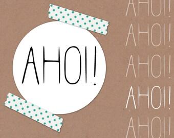 AHOI! // mini stamp Ø 1,2 cm / scrapbooking / natural rubber