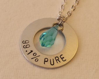 Breaking bad inspired necklace, 99.1% pure blue meth