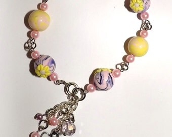 Pink and Yellow Hello Kitty Bracelet