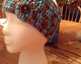 Crocheted Headband/Ear warmer, adjustable