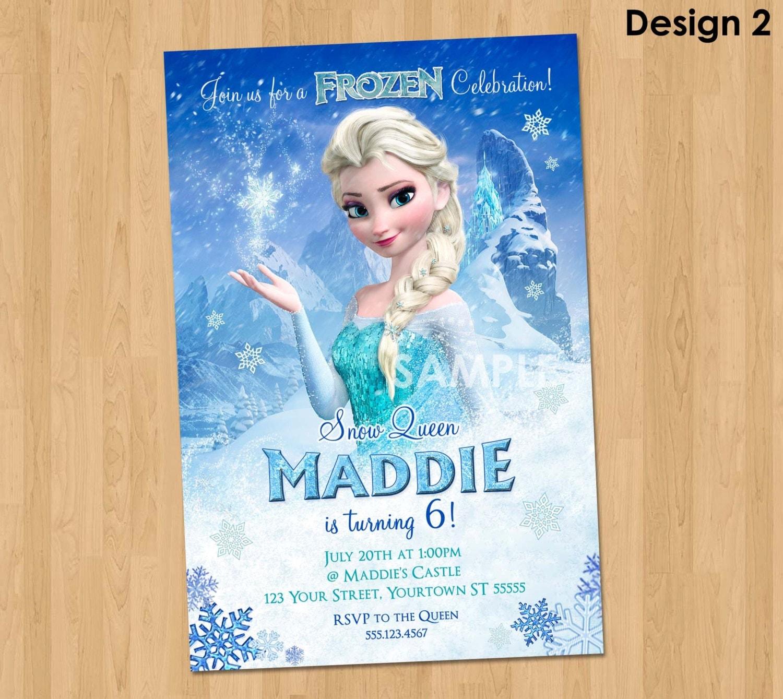 Elsa Frozen Invitation Frozen Birthday Invitation Disney