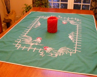 Vintage Cross-Stitch Tablecloth