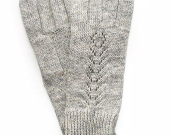 Women's knitted lambswool Gloves/winter gloves/mittens/gray/red/brown/lace/woolen gloves