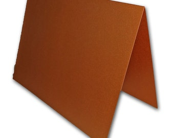 Blank Metallic Copper Place Cards 25 pack