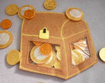 Gift / Candy bag for Pirate Paty!! ( for CHOCOLATE COINS)