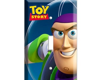 SALE NOW Buzz Lightyear Space astronaut Toy story single Double light switch cover plate children room decor