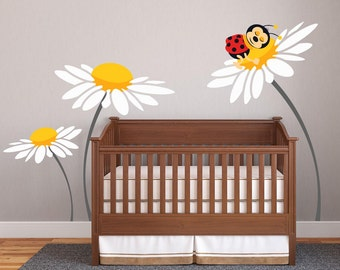 Baby Girl Nursery Ideas Daisy Lady Bug Decals For Walls Wall Sticker Baby  Room Decor Personalized Part 66