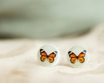 Butterfly Earring Studs, Stud Earings, Butterfly Earring, Butterfly Jewelry, Butterfly Earring Stud, Ear Post, Christmas In July, CIJ