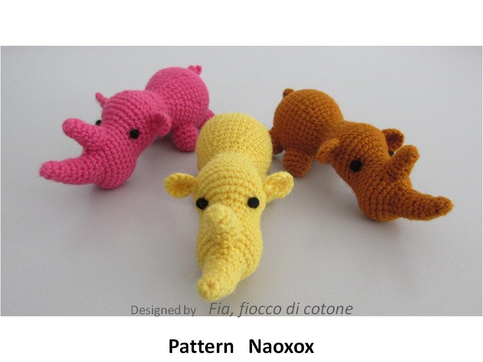 Star Wars Amigurumi Crochet Pattern Free : Pattern Naoxox rhinoceros amigurumi crochet