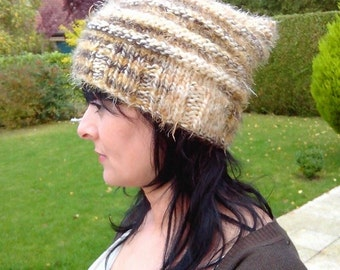 Trendy hat roughly color thread mustard