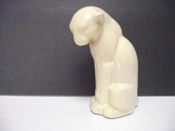 Vintage Frankoma Pottery Puma, Cat Figurine, Statue