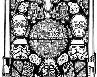 Star Wars original art print (A3)