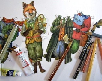 Hector Fox Paper Doll